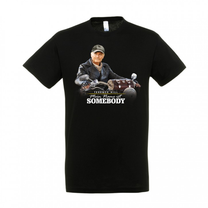 """T-Shirt """"Mein Name ist Somebody"""" -  Motiv: Motorrad - Größe S"""