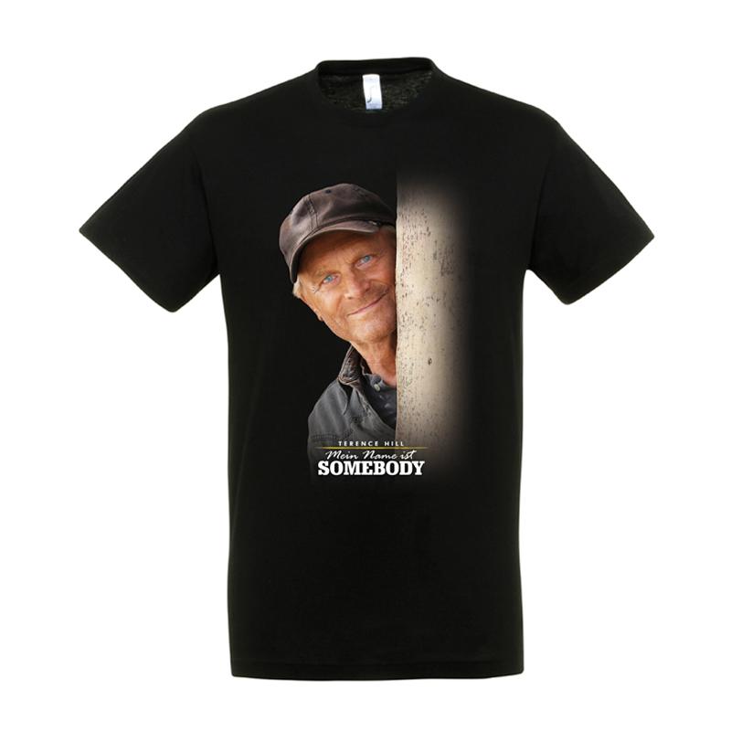 """T-Shirt """"Mein Name ist Somebody"""" -  Motiv: Gesicht - Größe S"""